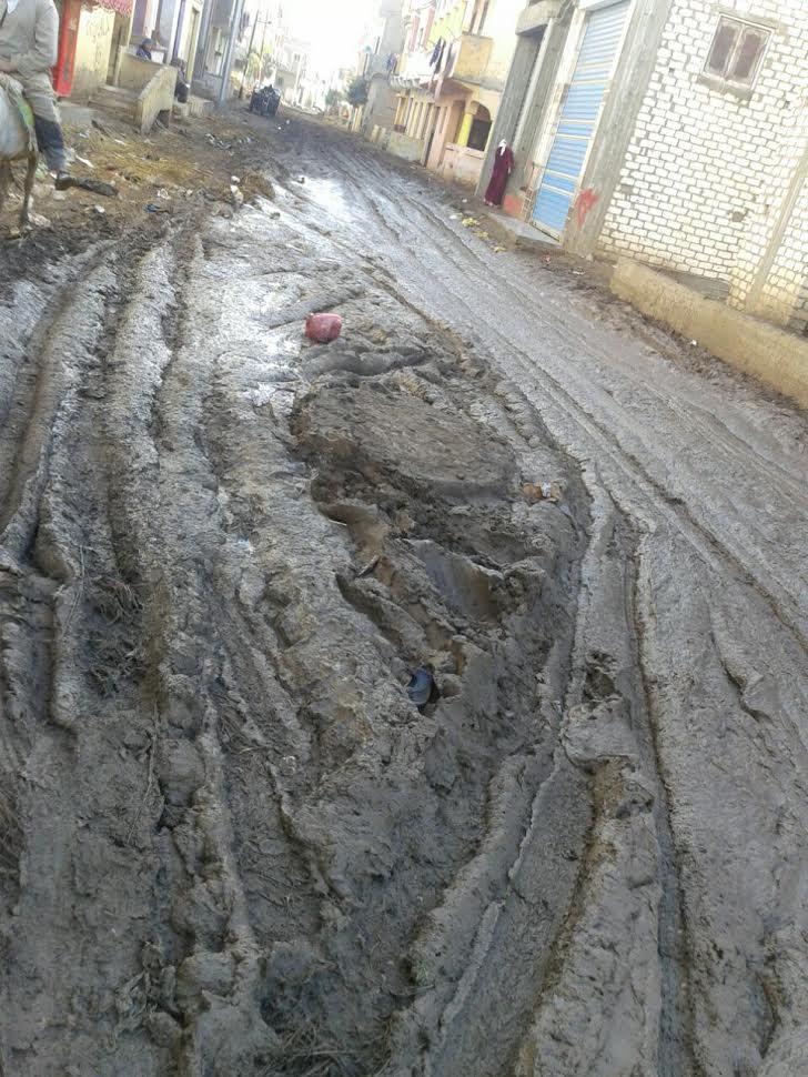 سكان «كفر السودان» يشكون تكسير شوارع القرية.. ويطالبون برصفها (صور)