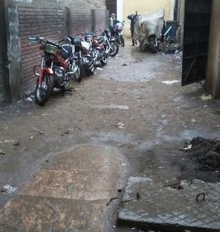 أمطار خفيفة على مركز ناصر ببني سويف (صورة)