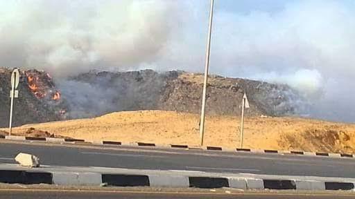 حرق مخلفات المستشفيات قرب حي «الواحة» بمدينة نصر