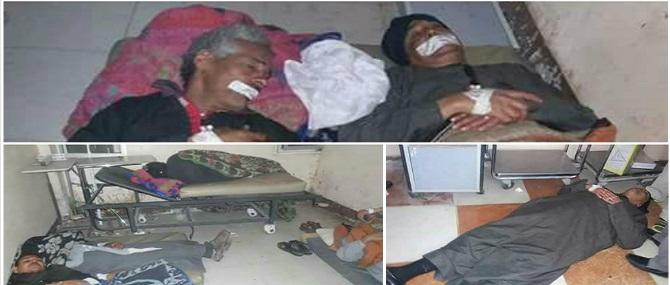 صور.. إضراب عمال نظافة بمستشفى إسنا عن الطعام لتأخر مرتباتهم منذ 3 شهور
