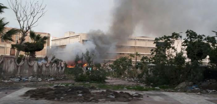 حريق محدود في سوق الجمعة بالإسكندرية (صور)