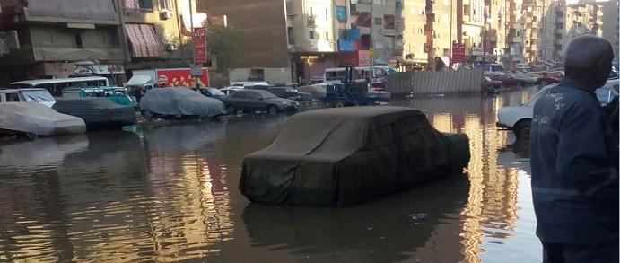 القليوبية.. غرق طريق «أم بيومي» بشبرا الخيمة للمرة الثانية (صور)