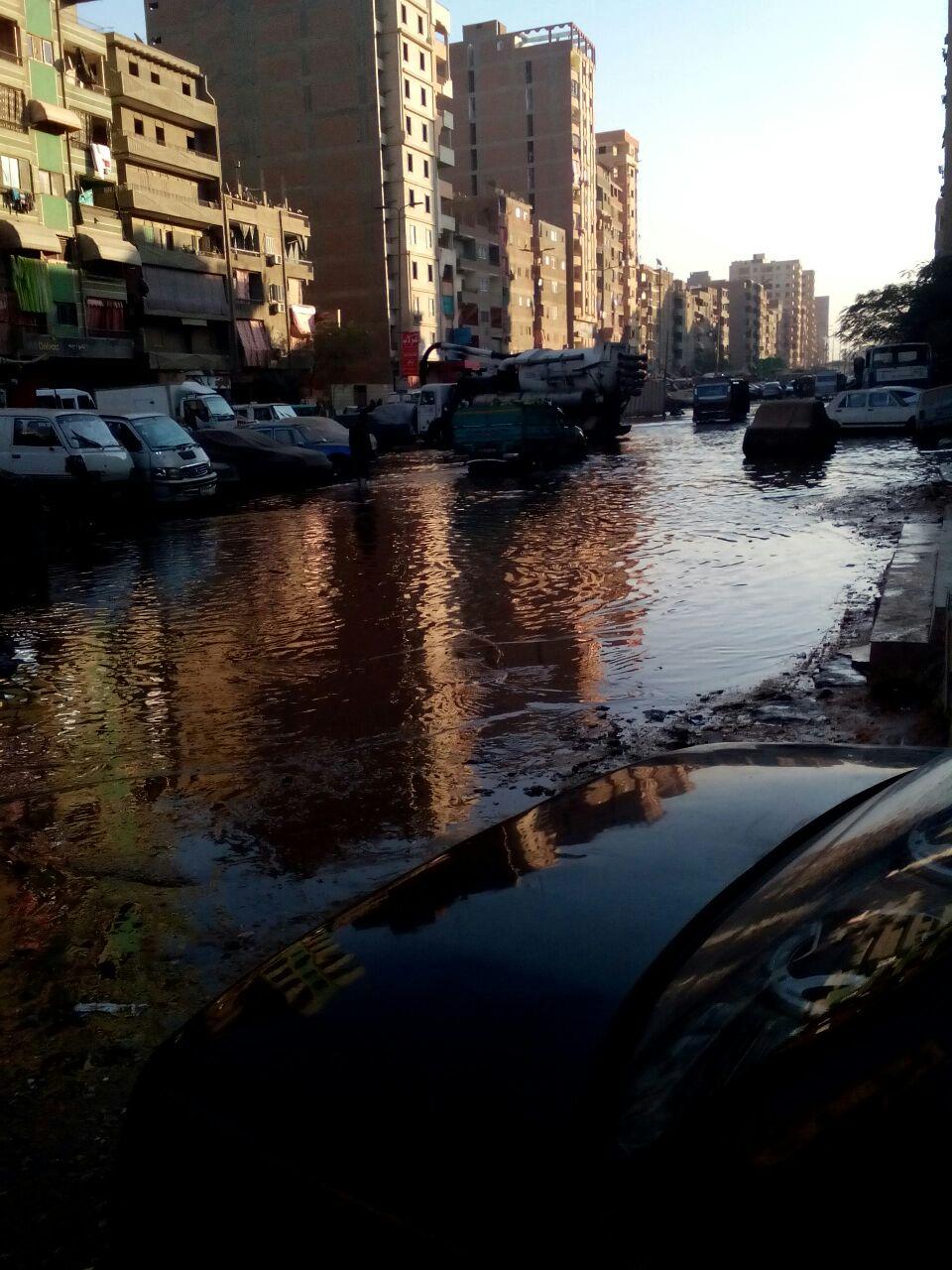 بالصور.. غرق مناطق في «أم بيومي» بالقليوبية