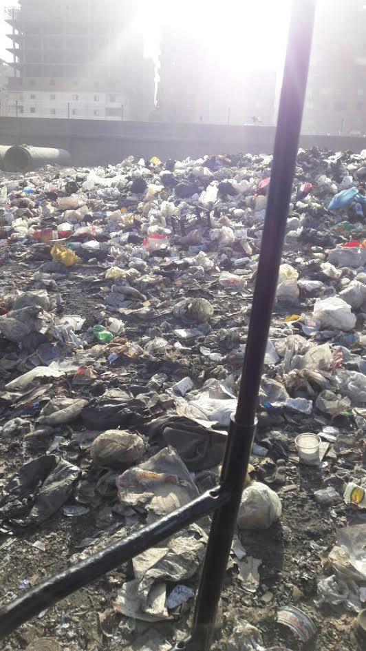 سكان «الحرفيين» يشكون غرق شارع جمال عبدالناصر بمياه الصرف.. ومطالب برصفه (صور)
