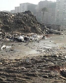 سكان «الحرفيين» يشكون غرق شارع جمال عبدالناصر.. ومطالب برصفه (صور)