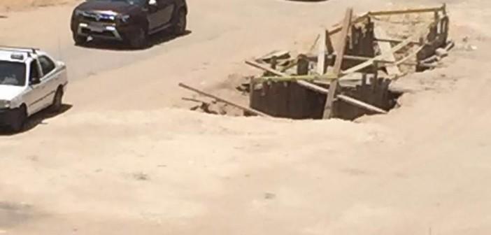 سكان زهراء المعادي يطالبون برصف طريق رئيسي وإعادة تشجيره (صور)