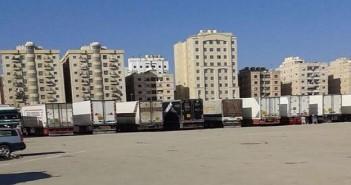غضب بين سائقي الشاحنات المصريين في الكويت بسبب منع دخولها لمصر فارغة : بيوتنا اتخربت (صور)