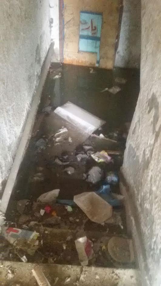 مياه الصرف تحاصر سكان منطقة «السيدة خدجة» ببورسعيد (صور)