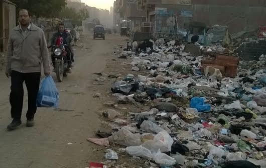 تفاقم أزمة القمامة في «أرض اللواء».. ومواطن: «ياريت المحافظ يتفرج» (صور)