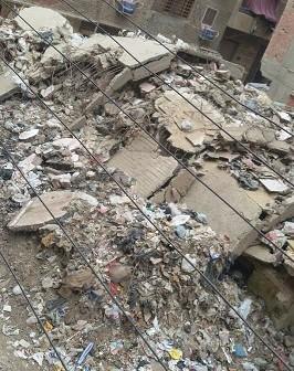 سكان عرب المعادي يشكون من القمامة ومخلفات البناء بالشوارع (صورة)