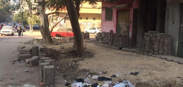 سكان حلوان ينتقدون إزالة الأرصفة لتجديدها: إهدار للمال العام (صور)