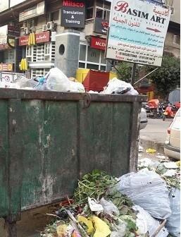 أهالي مدينة نصر يشكون تراكم تجمعات القمامة بالشوارع (صور)