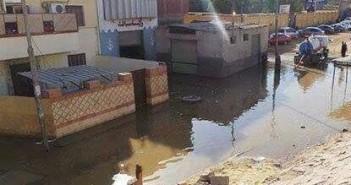 أسوانl عطل بمحطة الصرف الصحي يتسبب في غرق 10 منازل ب«بركة الدماس» (صور)
