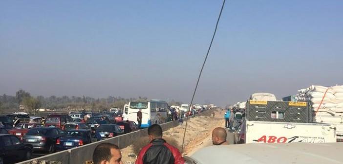 شلل مروري على طريق مصر – الإسكندرية الصحراوي