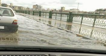 سقوط أمطار في دمياط