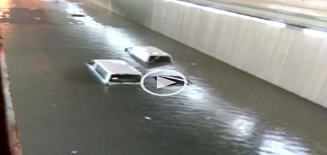 ⛈ بالفيديو.. الأمطار والسيول تغرق مدينة الدمام بالسعودية