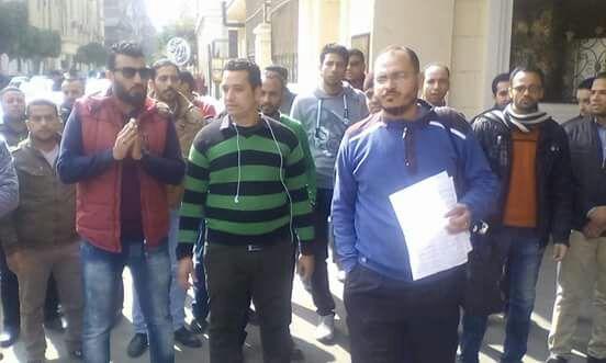وقفة المعلمين المغتربين أمام ديوان وزارة التربية والتعليم