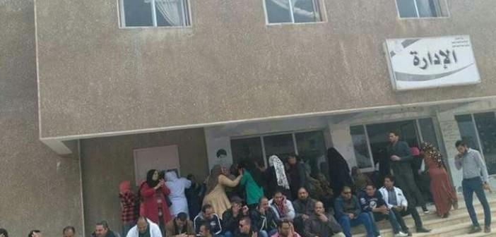 تواصل احتجاجات «الصحة النفسية» بحلوان لصرف كادر التمريض (صور)