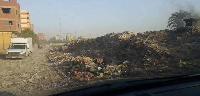 تجمعات للقمامة تملأ شارع مصنع الصابون بالقليوبية (صور)