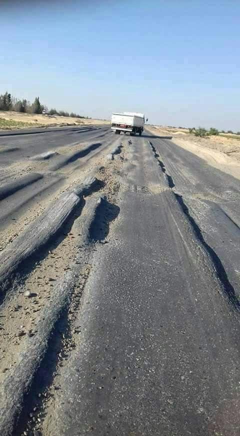 استياء من مستوى الطريق الصحراوي الغربي الرابط بين القاهرة والصعيد (صورة)