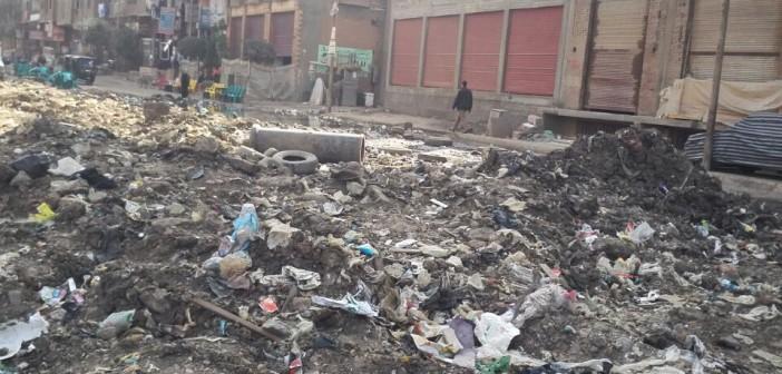 مطالب بترميم شارع الشعراوي في شبرا الخيمة بعد أعمال حفر (صور)
