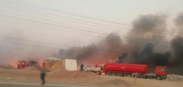 صور.. حريق بمخلفات القمامة بالحي السادس بـ 6 أكتوبر