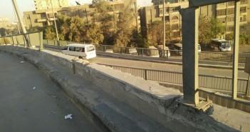 كوبري «أحمد عرابي» في مواجهة الإهمال: أسفلت سئ و بلا حواجز(صور)