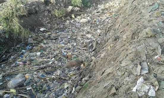 أهالي «صفط ميدوم» يطالبون بتنظيف ترعة القرية (صور)
