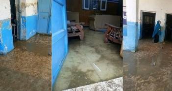 قنا l إنسداد ترعة يتسبب في غرق مدرسة «العسيرات الإعدادية»(صور)
