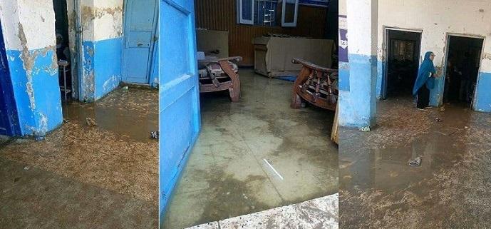 غرق مدرسة «العسيرات الإعدادية» بعد انسداد ترعة في قنا (صور)