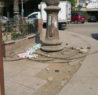 ▶️ أسلاك عارية بأعمدة كهرباء في مصر الجديدة (صور وفيديو)