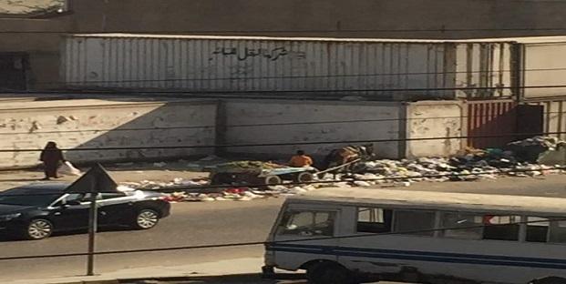 سكان محور طه حسين بالنزهة يطالبون بإزالة مقلب قمامة (صور)