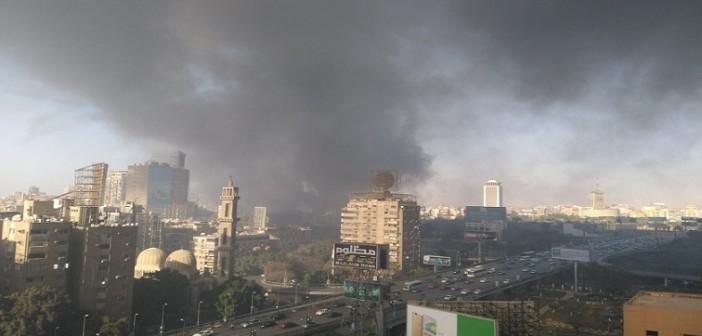 ▶️ بالفيديو.. لحظة تصاعد سحب دخان حريق نادي الجزيرة