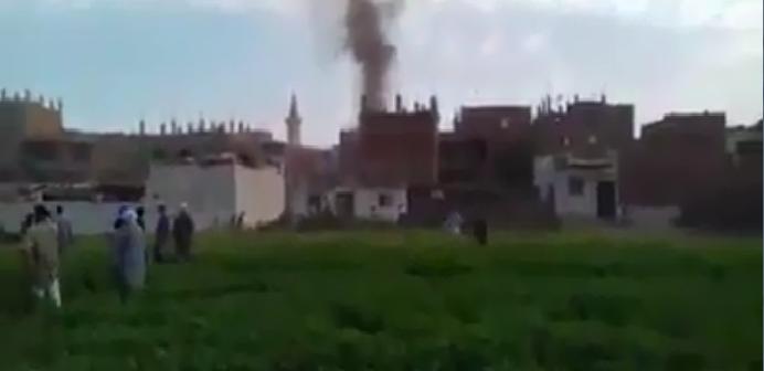 فيديو.. حريق هائل في مستودع بوتاجاز بقرية بهبشين ببني سويف