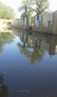 مياه الصرف تحاصر الوحدة الصحية لقرية «العطواني» بأسوان (صور وفيديو)
