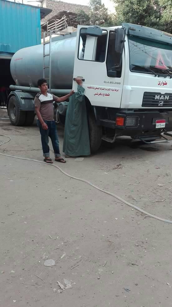 انقطاع المياه في قرية كفر الباز بالدقهلية