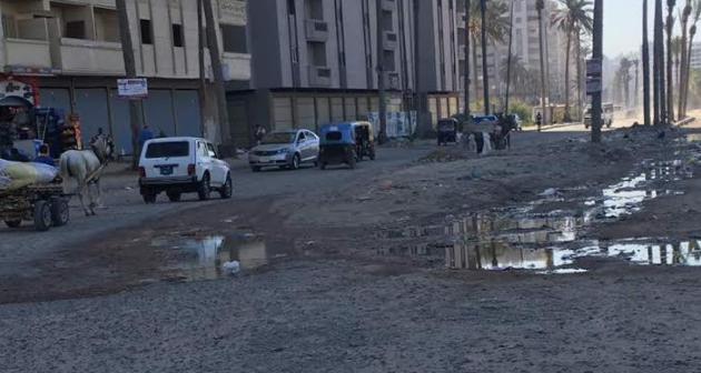 مطالب بإنهاء مشروع الصرف الصحي في أحد شوارع المندرة بالإسكندرية