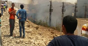 حريق قرب «كهرباء الريف» بأسوان.. وتصاعد سحب الدخان
