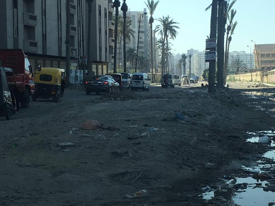 مطالب بإنهاء مشروع الصرف الصحي بشارع «النبوي المهندس» بالإسكندرية