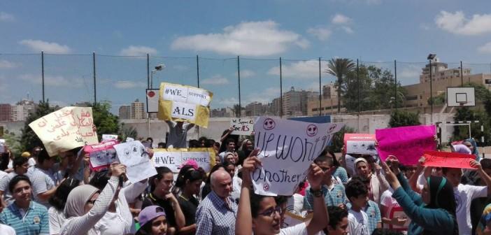 بالصور.. مظاهرة لطلاب وأولياء أمور ضد قرار وزير التعليم بسحب تراخيص «الإسكندرية للغات»