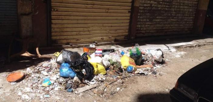 تجمعات القمامة تثير غضب أهالي المنشية بالإسكندرية (صورة)