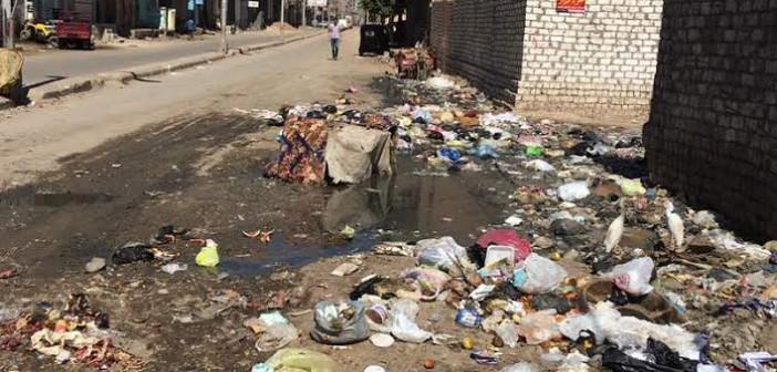 صور.. انتشار القمامة في شوارع «المحلة الكبرى» يثير غضب الأهالي