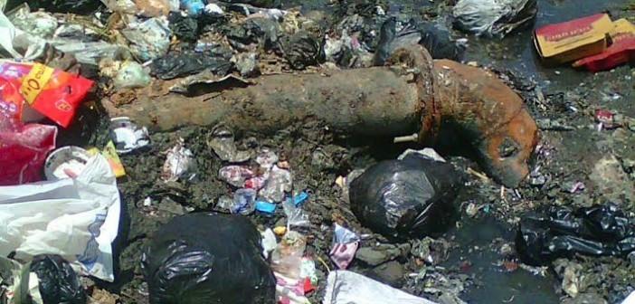 سكان «لعبة» بالجيزة يشكون اختلاط مياه الضرب بالصرف الصحي (صور)