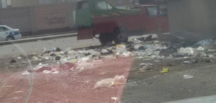 صور.. أهالي «السيدة خديجة» ببورسعيد يشكون طفح الصرف الصحي