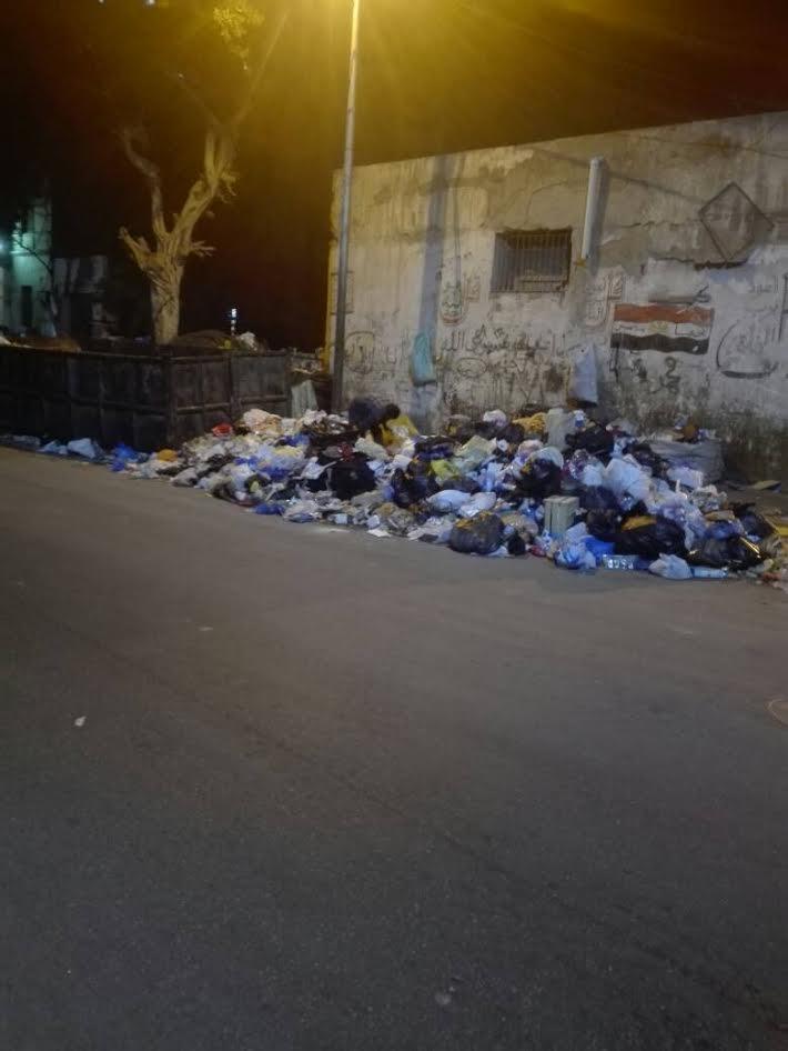 صور.. سكان «وينجت» بالإسكندرية يشكون انتشار القمامة وتجاهل مسؤولي الحي رفعها