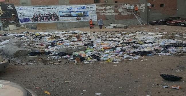 سكان في حي غرب المنصورة يطالبون برفع القمامة من الشوارع (صور)