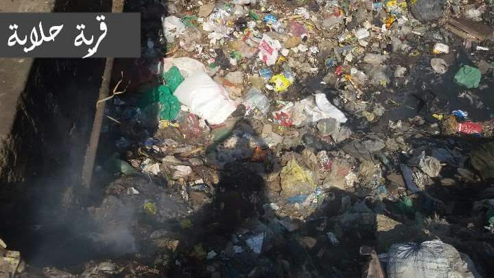 تفاقم أزمة القمامة في «حلابة» بالقليوبية (صور)