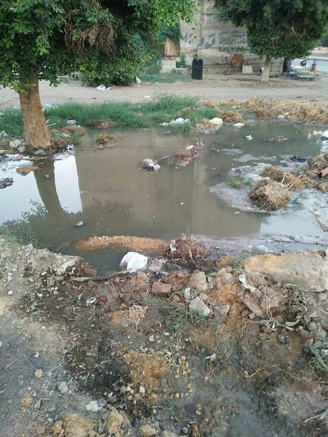 بالصور.. انكسار ماسورة مياه بالقطامية.. ومواطن: العطل يتكرر منذ 3 شهور