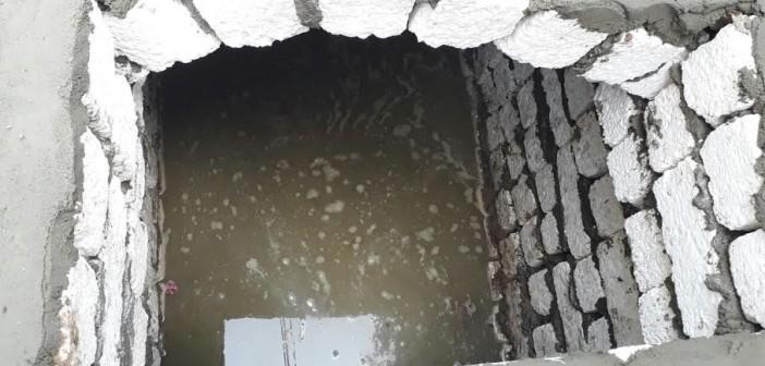 أهالي «قرىة أبو غالب» يطالبون باستكمال مشروع الصرف المتوقف منذ 5 سنوات..(صور)