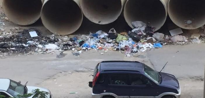 مطالب بإعادة إصلاح وتشجير مدخل زهراء المعادي من الأوتوستراد (صور)